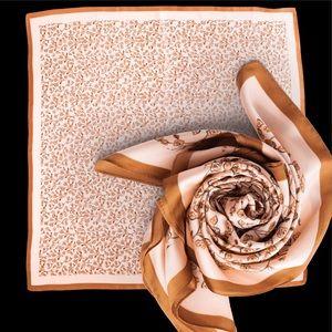 Cleobella blush and beige silky scarf